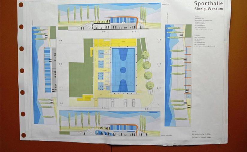 Plan Schulsporthalle Westum
