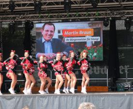 Nicht passend Wahlwerbung von CDU Mann Braun beim Stadtfest